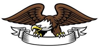 Presa della mascotte di Eagle il nastro illustrazione di stock