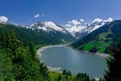 Presa Durlassboden, parque nacional Hohe Tauern Imagenes de archivo