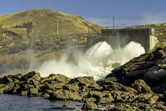 Presa hidroeléctrica cerca de Boise Idaho fotos de archivo