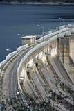 Presa hidroeléctrica en el lago Corbara, Italia Fotografía de archivo libre de regalías