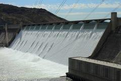 Presa hidroeléctrica magnífica de Coulee Imagen de archivo libre de regalías