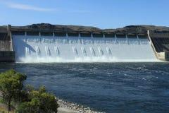 Presa hidroeléctrica magnífica de Coulee Fotografía de archivo