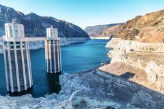 Presa Hoover en Estados Unidos Central hidroeléctrica en Ariz imagen de archivo libre de regalías