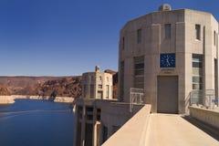 Presa Hoover - tiempo de Arizona Imagenes de archivo