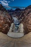 Presa Hoover, visión panorámica Imagen de archivo
