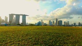 Presa Singapur del puerto deportivo Foto de archivo