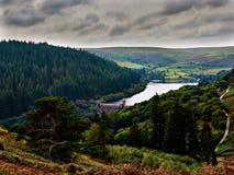 Presa y depósito Elan Valley Wales de Penygarreg Imagen de archivo