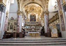 Presbiterio de la catedral de Matera en Matera, Italia Imagen de archivo