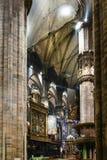 Presbiterio en Milan Cathedral imagen de archivo libre de regalías