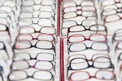 Presbyopia myopia reading glasses Stock Image