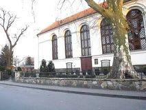 Presbytère polonais de fenêtres d'église photos libres de droits