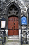 Presbyterian Abbey Church door, Dublin Stock Image