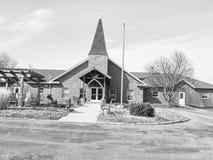 Presbyterianska kyrkan i liten stad Arkivbilder