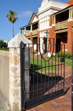 Presbytery Gate and Architecture: Fremantle, Western Australia stock photo