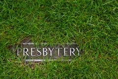 Presbytery - a mark in grass Stock Image