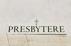 Presbytery wall Stock Photo