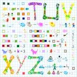 preschool элементов иллюстрация вектора