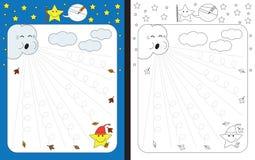 Рабочее лист Preschool Стоковое Изображение