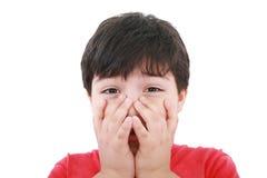 Preschool aged boy Royalty Free Stock Photos