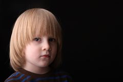 Preschool-aged boy portrait Royalty Free Stock Photo