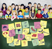 Preschool Art Doodles Creativity Concept Stock Photography