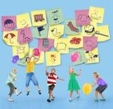 Preschool Art Doodles Creativity Concept stock images