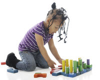Preschool Block Creation royalty free stock images