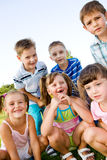 Preschool boys and girls Stock Photos