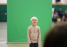 Preschool Child Getting School Picture Taken Stock Photos
