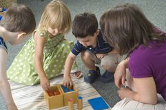 Preschool children stock photos