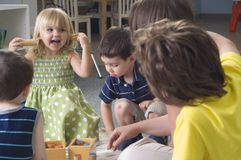 Preschool children Royalty Free Stock Photos