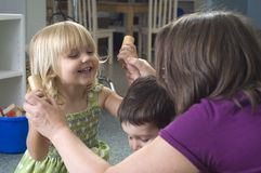 Preschool children stock image