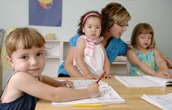 Preschool children Royalty Free Stock Image
