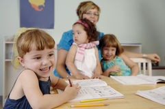 Preschool children Stock Image