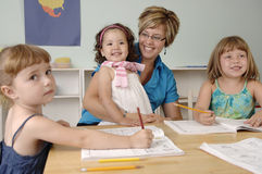 Preschool children Stock Images