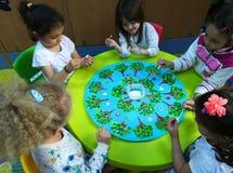 Preschool children at activities Royalty Free Stock Photos
