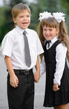 Preschool children a boy and a girl Royalty Free Stock Images