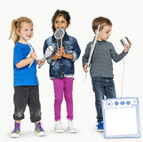 Preschool Children Boys and Girls Casual Studio Leisure Royalty Free Stock Images