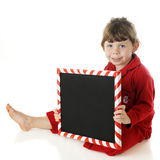 Preschool Christmas Message Stock Photo
