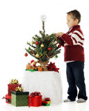 Preschool Christmas Tree Royalty Free Stock Images