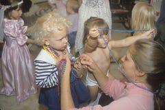 A preschool class playing dress up in Washington, D.C. Royalty Free Stock Photos