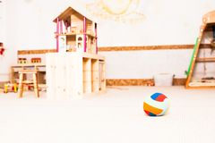 Preschool classroom interiour. With toys and details royalty free stock photography