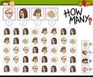 Preschool counting task cartoon Stock Photos