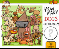 Preschool counting task with dogs Royalty Free Stock Photography