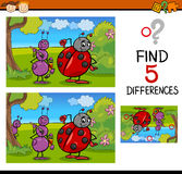 Preschool differences task Stock Photography
