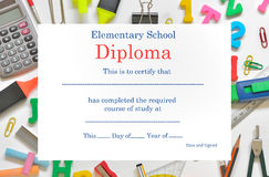 Preschool diploma Royalty Free Stock Image
