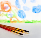 Preschool drawing Stock Photos