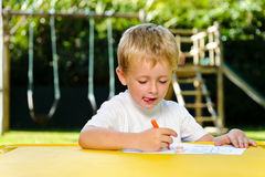 Preschool drawing art class Royalty Free Stock Images