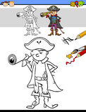 Preschool drawing and coloring task Royalty Free Stock Image