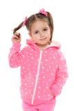Preschool dziewczyna przeciw bielowi Obrazy Stock